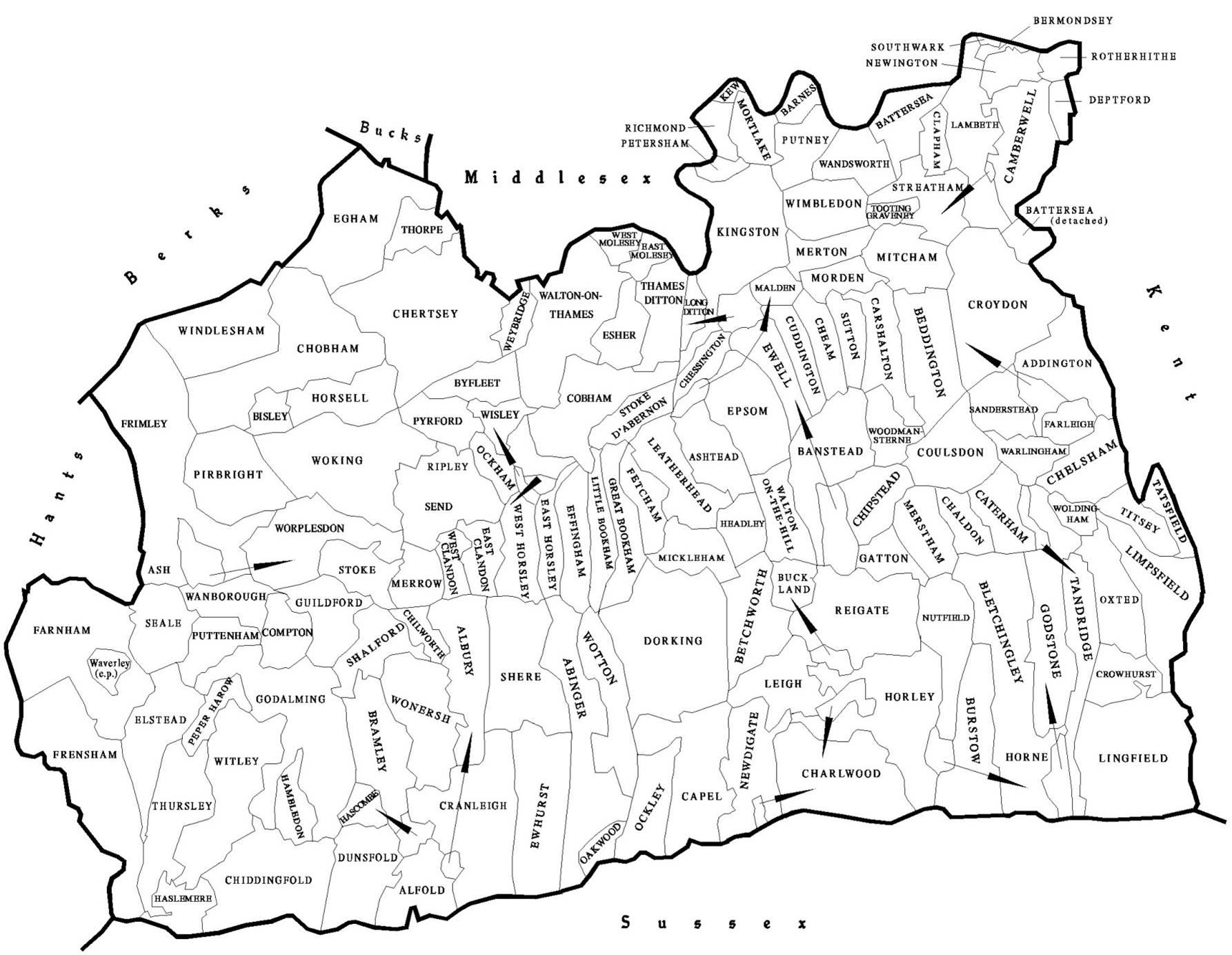 Map Of England Parishes.Parish Map